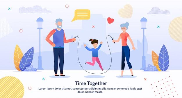 Ilustración de tiempo juntos