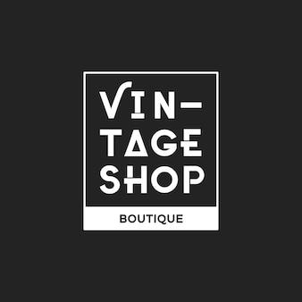 Ilustración de la tienda de boutique logo estampilla banner