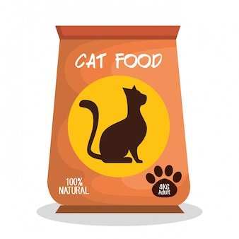 Ilustración de la tienda de mascotas gato