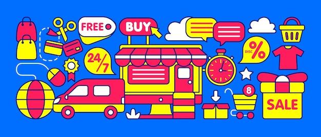Ilustración de la tienda online
