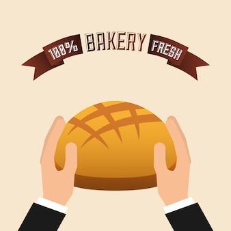 Ilustración de la tienda de panadería