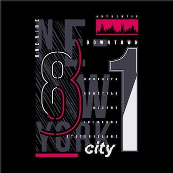 Ilustración de tipografía gráfica de la ciudad de nueva york para camiseta estampada