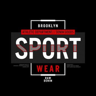 Ilustración de tipografía de ropa deportiva vector premium
