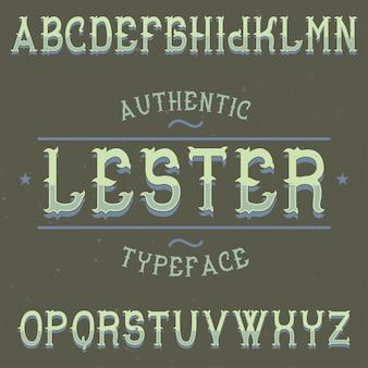 Ilustración de tipografía vintage