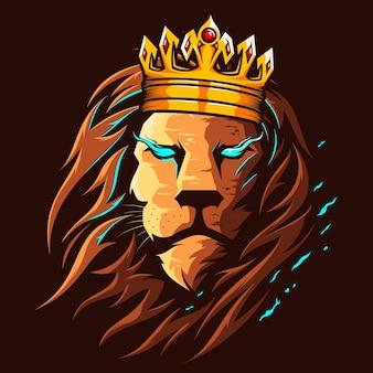 Ilustración a todo color del rey león