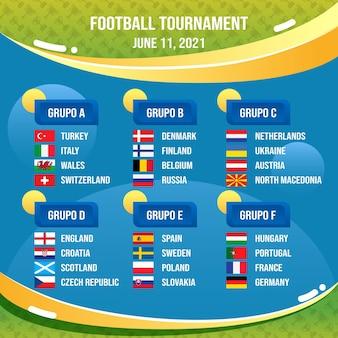Ilustración de torneo de fútbol degradado