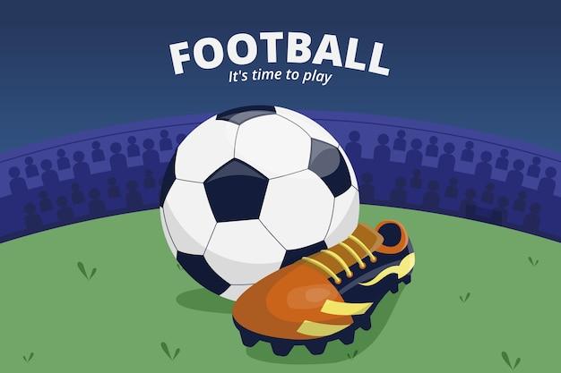 Ilustración de torneo de fútbol
