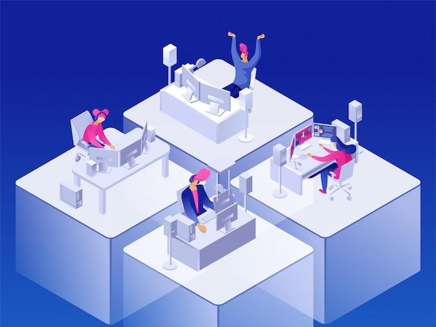Ilustración de torneo de jugador