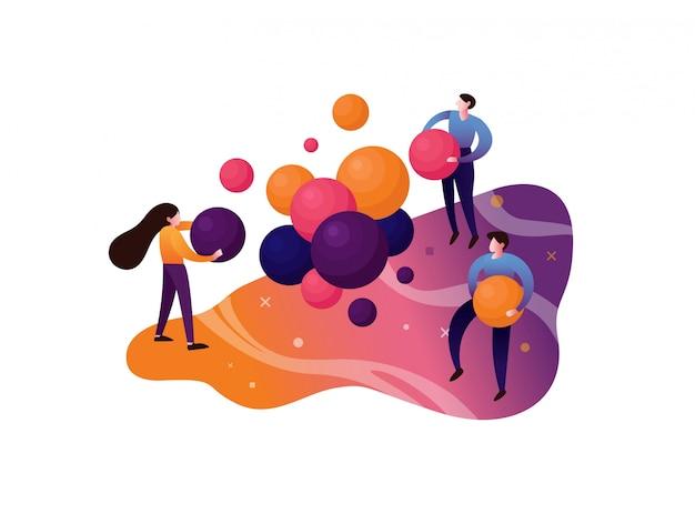 Ilustración de trabajo en equipo