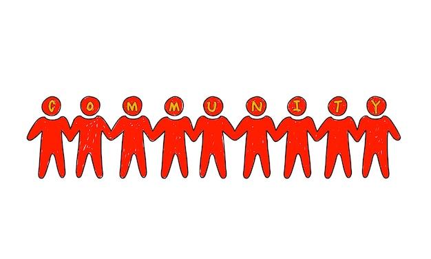 Ilustración del trabajo en equipo