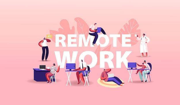 Ilustración de trabajo remoto