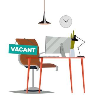 Ilustración de trabajo vacante