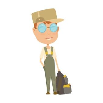 Ilustración de traje de campamento de boy scout