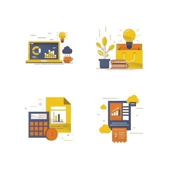 Ilustración de transacciones en línea