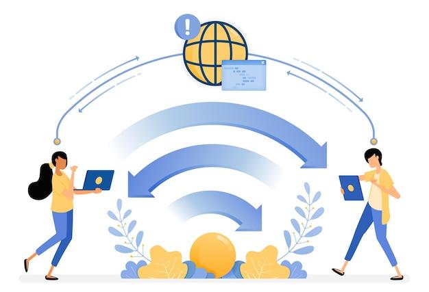 Ilustración de la transferencia de datos