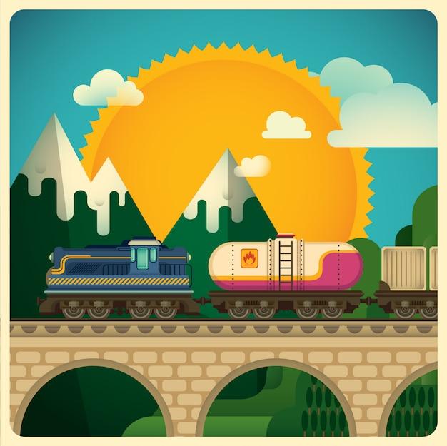 Ilustración de transporte de carga