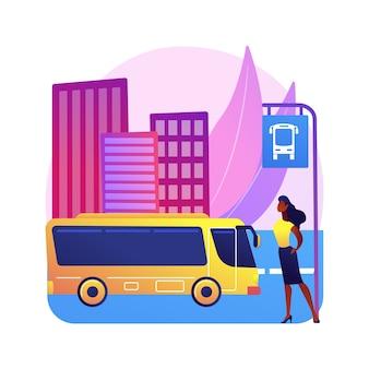 Ilustración de transporte público