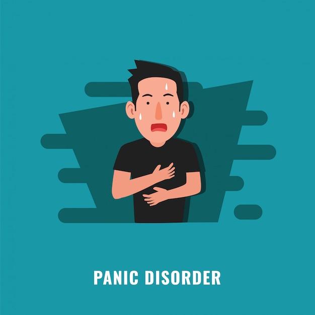 Ilustración de trastorno de pánico