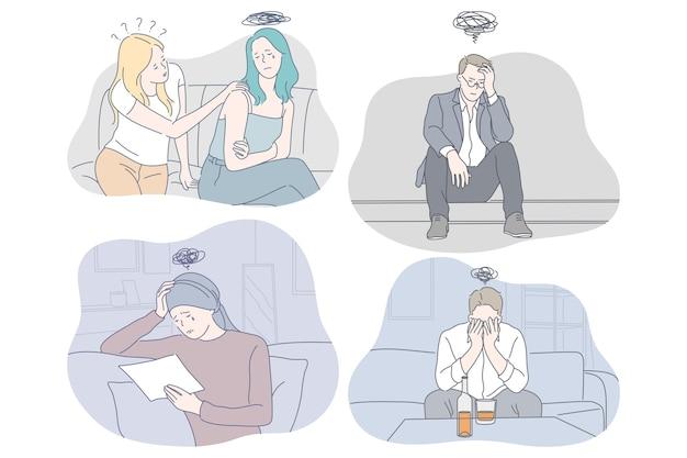 Ilustración de tristeza