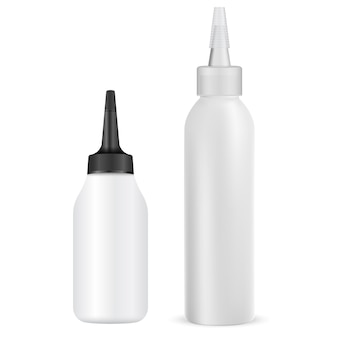 Ilustración de tubo de tinte para el cabello