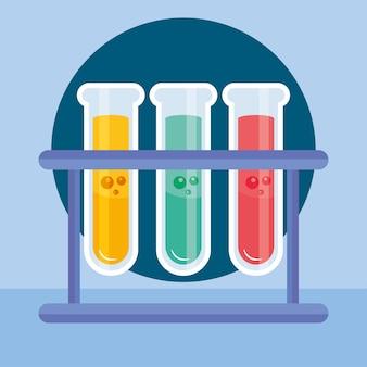 Ilustración de tubos de ensayo