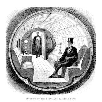 Ilustración túnel vintage
