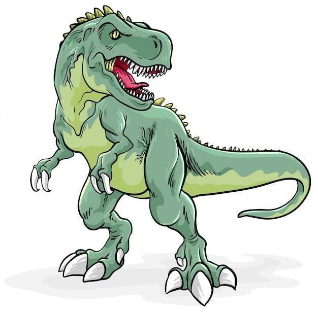 Ilustración de tyrannosaurus rex