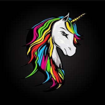 Ilustración de unicornio enojado