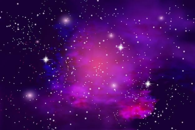 Ilustración del universo infinito y la vía láctea.