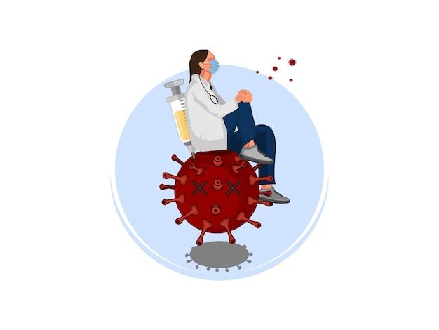 Ilustración de la vacuna covid 19