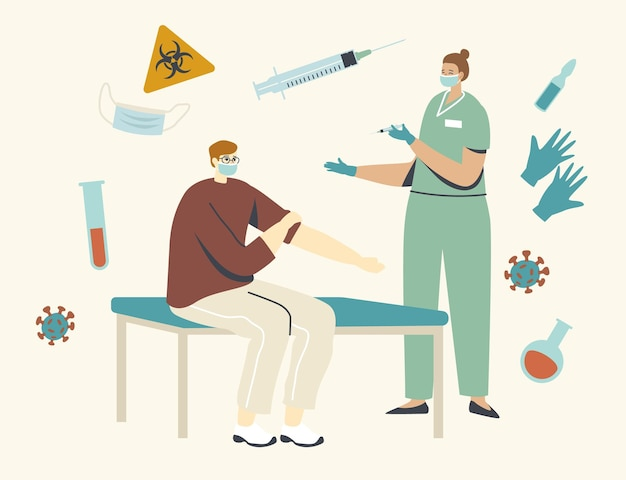 Ilustración de vacunación