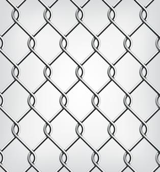 Ilustración de valla de cadena sin costuras