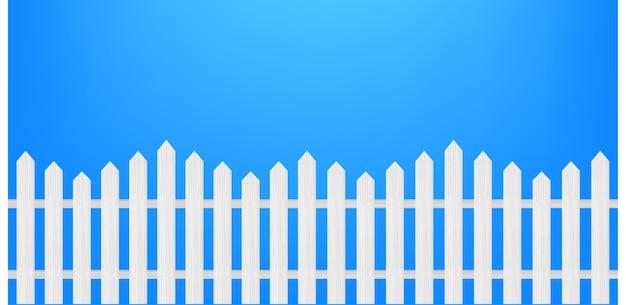 Ilustración de valla de madera y hierba