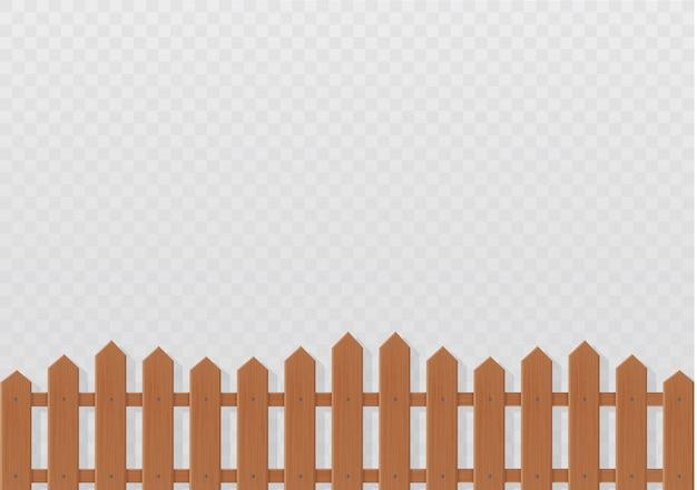 Ilustración de valla de madera sobre fondo blanco.conjunto de valla de iconos de ilustración