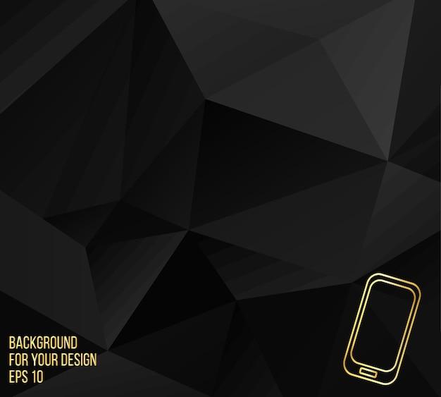 Ilustración de vector abstracto concepto creativo del teléfono móvil moderno. iconos de línea. diseño de folletos y membretes de estilo.