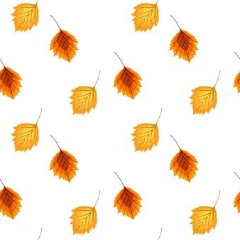 Ilustración de vector abstracto fondo de otoño con caída de hojas de otoño. patrón sin costuras. eps10