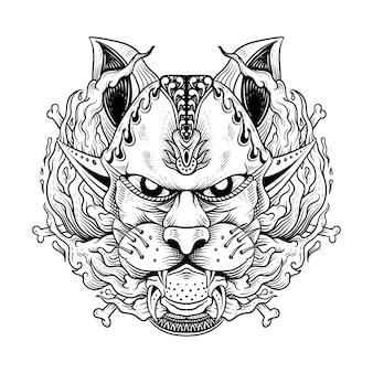 Ilustración de vector abstracto de perro gráfico bulldog francés