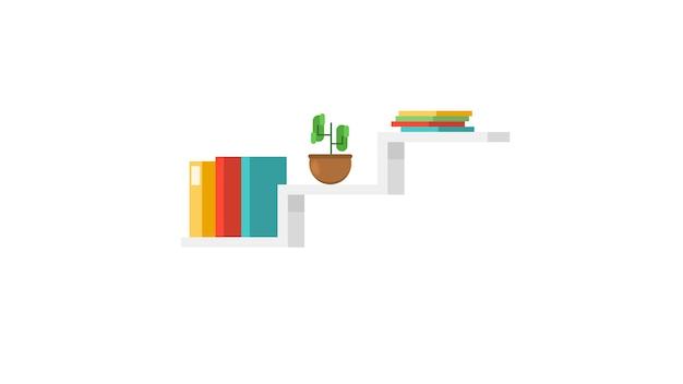 Ilustración de vector aislado estante
