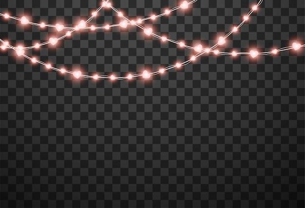 Ilustración de vector aislado de luces de san valentín