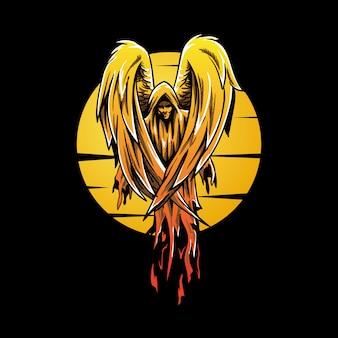 Ilustración de vector de ángel roto