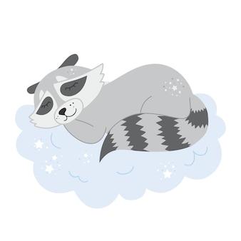Ilustración de vector de animal fresco para camiseta de guardería, ropa para niños, invitación, baby shower, diseño infantil escandinavo simple. vector premium