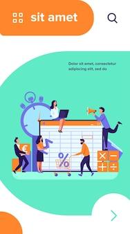 Ilustración de vector de aplicación de contabilidad