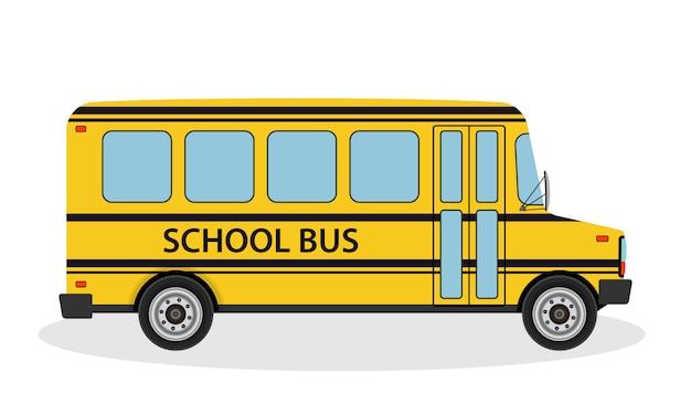 Ilustración de vector de autobús escolar para que los niños viajen a la escuela