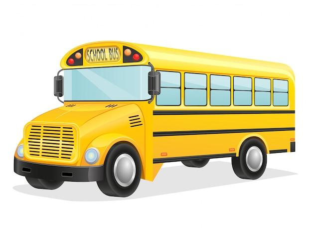 Ilustración de vector de autobús escolar
