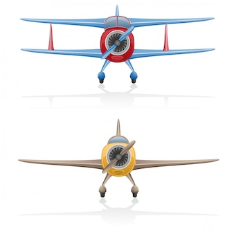 Ilustración de vector de avión viejo