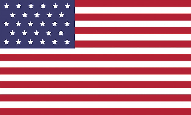 Ilustración de vector de bandera de américa.