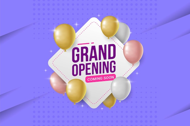 Ilustración de vector de banner de anuncio de gran inauguración