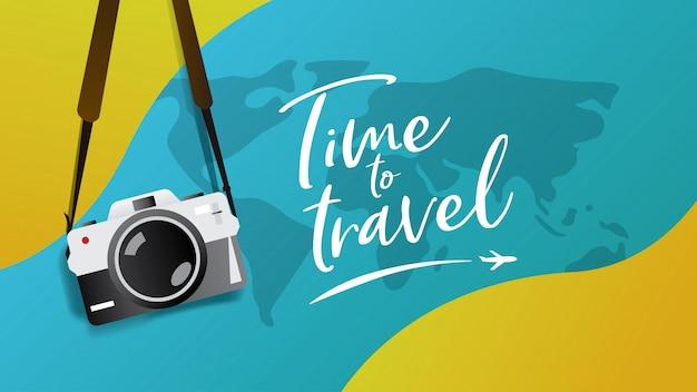 Ilustración de vector de banner de viaje