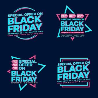 Ilustración de vector de banner de viernes negro