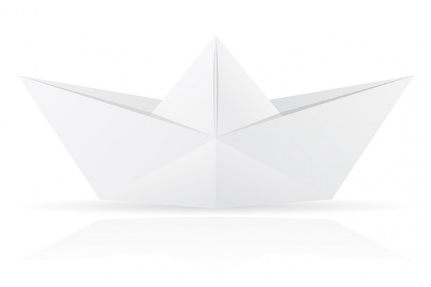 Ilustración de vector de barco de papel de origami